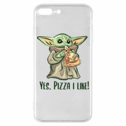 Чехол для iPhone 8 Plus Yoda and pizza
