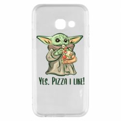 Чехол для Samsung A3 2017 Yoda and pizza