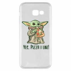 Чехол для Samsung A5 2017 Yoda and pizza