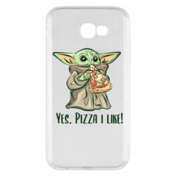 Чехол для Samsung A7 2017 Yoda and pizza