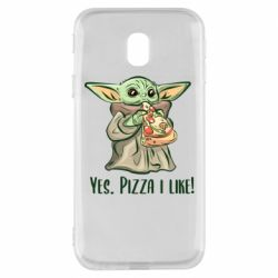 Чехол для Samsung J3 2017 Yoda and pizza