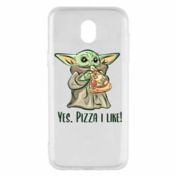 Чехол для Samsung J5 2017 Yoda and pizza