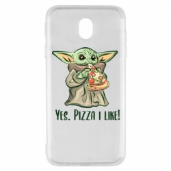 Чехол для Samsung J7 2017 Yoda and pizza