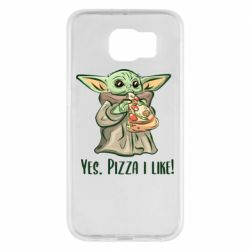 Чехол для Samsung S6 Yoda and pizza