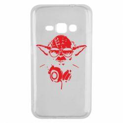 Чохол для Samsung J1 2016 Yoda в навушниках