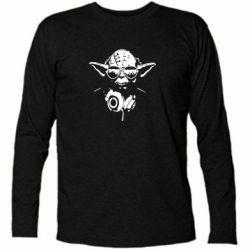 Футболка з довгим рукавом Yoda в навушниках