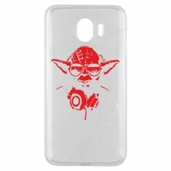 Чехол для Samsung J4 Yoda в наушниках