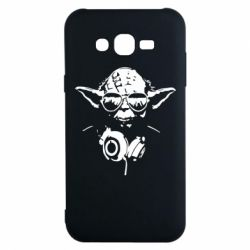 Чехол для Samsung J7 2015 Yoda в наушниках