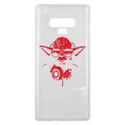 Чехол для Samsung Note 9 Yoda в наушниках