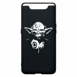 Чехол для Samsung A80 Yoda в наушниках