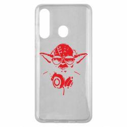 Чехол для Samsung M40 Yoda в наушниках