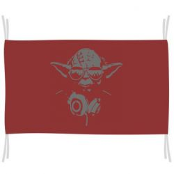 Прапор Yoda в навушниках