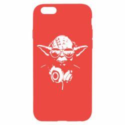 Чехол для iPhone 6/6S Yoda в наушниках