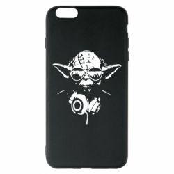 Чехол для iPhone 6 Plus/6S Plus Yoda в наушниках