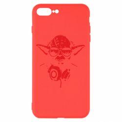 Чехол для iPhone 7 Plus Yoda в наушниках