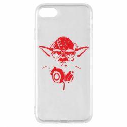 Чехол для iPhone 8 Yoda в наушниках