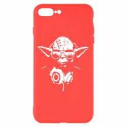 Чехол для iPhone 8 Plus Yoda в наушниках