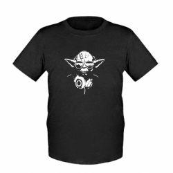 Дитяча футболка Yoda в навушниках
