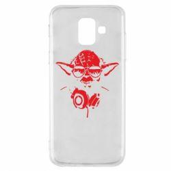 Чехол для Samsung A6 2018 Yoda в наушниках