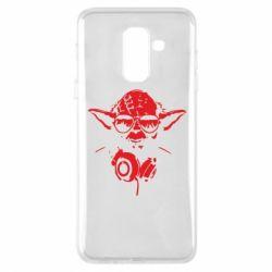 Чехол для Samsung A6+ 2018 Yoda в наушниках