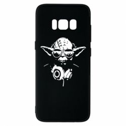 Чехол для Samsung S8 Yoda в наушниках