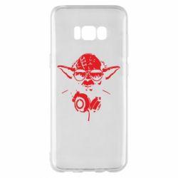 Чехол для Samsung S8+ Yoda в наушниках