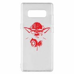Чехол для Samsung Note 8 Yoda в наушниках
