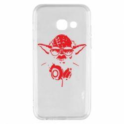 Чехол для Samsung A3 2017 Yoda в наушниках