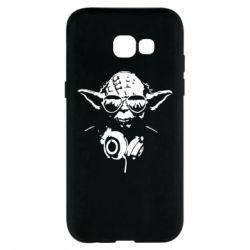 Чехол для Samsung A5 2017 Yoda в наушниках