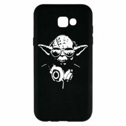 Чехол для Samsung A7 2017 Yoda в наушниках