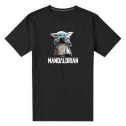 Мужская стрейчевая футболка Yoda with a cup