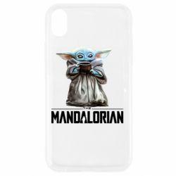 Чехол для iPhone XR Yoda with a cup