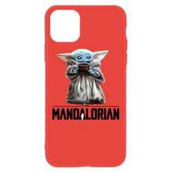 Чехол для iPhone 11 Yoda with a cup