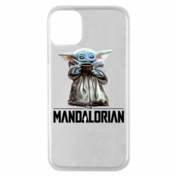 Чехол для iPhone 11 Pro Yoda with a cup