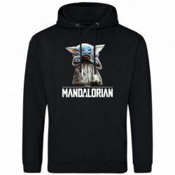 Мужская толстовка Yoda with a cup