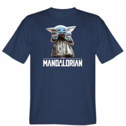 Мужская футболка Yoda with a cup