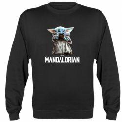 Реглан (свитшот) Yoda with a cup