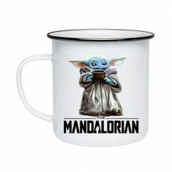 Кружка эмалированная Yoda with a cup