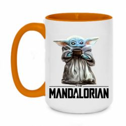 Кружка двухцветная 420ml Yoda with a cup