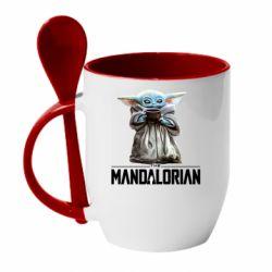 Кружка с керамической ложкой Yoda with a cup