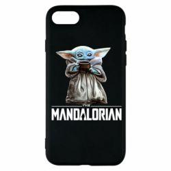 Чехол для iPhone 7 Yoda with a cup