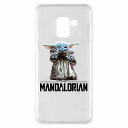 Чехол для Samsung A8 2018 Yoda with a cup
