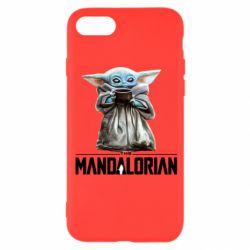 Чехол для iPhone 8 Yoda with a cup