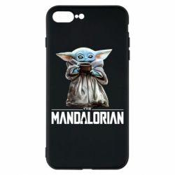 Чехол для iPhone 8 Plus Yoda with a cup
