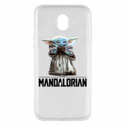 Чехол для Samsung J5 2017 Yoda with a cup