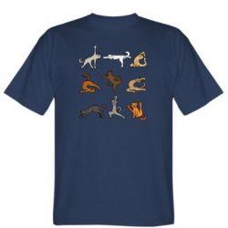 Мужская футболка Yoga cats - FatLine