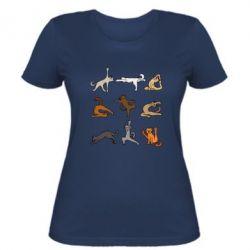 Жіноча футболка Yoga cats - FatLine
