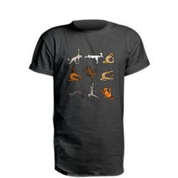 Подовжена футболка Yoga cats - FatLine