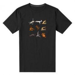 Чоловіча стрейчева футболка Yoga cats - FatLine