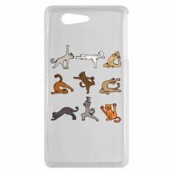 Чохол для Sony Xperia Z3 mini Yoga cats - FatLine